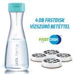 LAICA Flow 'n go vízszűrő palack 1 liter