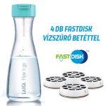 LAICA Flow 'n go 1 literes instant vízszűrő palack  1 + 3 db FAST DISK szűrőbetéttel - PROMÓCIÓS SZETT