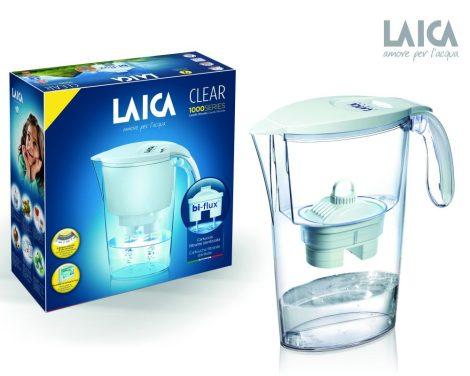 Clear Line fehér vízszűrőkancsó 1 db bi-flux univerzális szűrőbetéttel