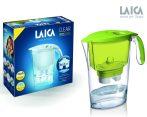 LAICA Clear Line zöld vízszűrő kancsó mechanikus kijelzővel és 1 db bi-flux univerzális szűrőbetéttel