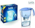 LAICA Clear Line kék vízszűrő kancsó mechanikus kijelzővel és 1 db bi-flux univerzális szűrőbetéttel