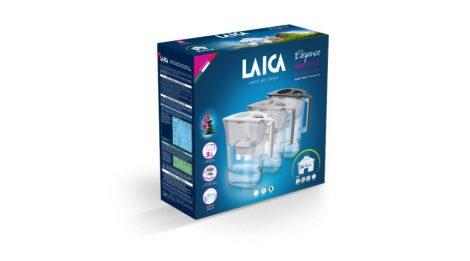 LAICA Prime Line Elegance Ivory fehér vízszűrő kancsó elektronikus kijelzővel és 1 db bi-flux univerzális szűrőbetéttel