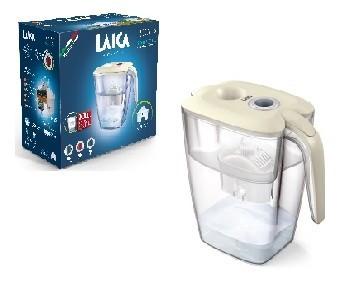 LAICA Róma Night Blue XXL vízszűrő kancsó Cream tetővel, mechanikus night blue tárcsával  és 1 db bi-flux univerzális szűrőbetéttel -  3,7 liter