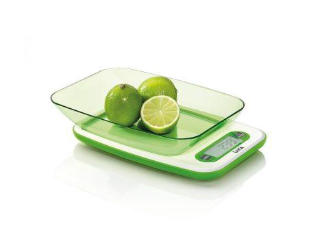 Laica digitális tálas konyhamérleg 5Kg fehér zöld színben