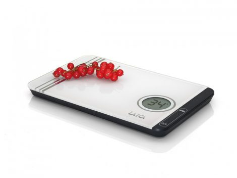 LAICA digitális fehér konyhai mérleg Touch Sensor - 5 kg / 1 g