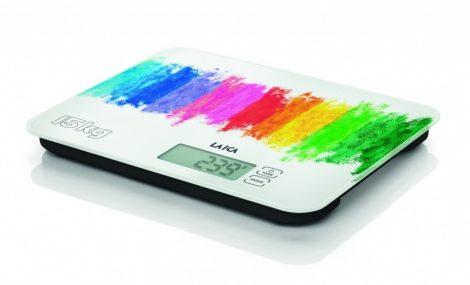 """Laica digitális konyhamérleg """"szivárvány"""" 15 Kg"""