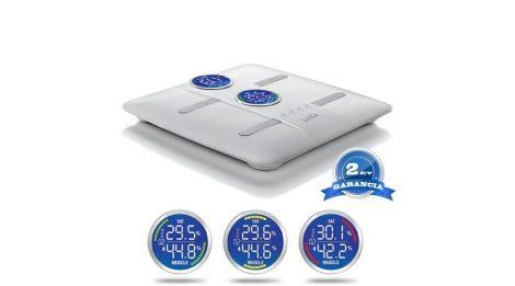 LAICA elektronikus testtömeg összetétel személymérleg - fehér 180 kg