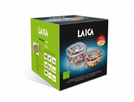 LAICA 2 db-os vákuumozható tároló / marináló, BPA mentes edény szett 2 literes + 1 literes