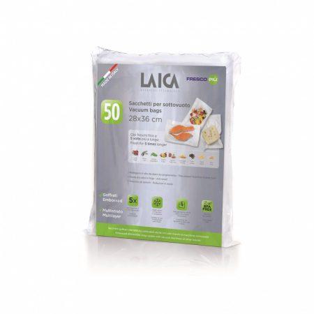 Laica vákuum légcsatornás, BPA mentes csomagoló tasak 28 x 36cm 50 db / csomag