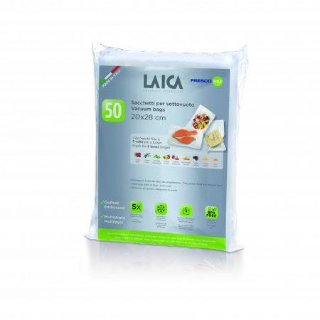 LAICA légcsatornás, EXTRA erős BPA mentes vákuum csomagoló tasak 20 x 28 cm, 50 db