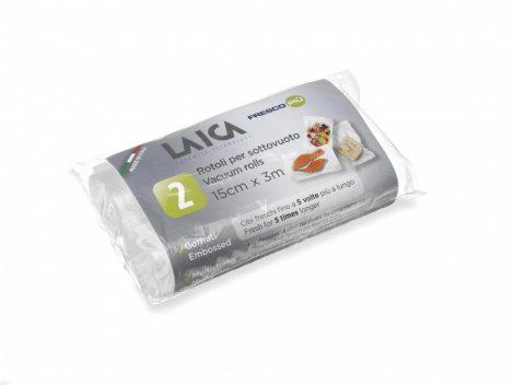 LAICA  légcsatornás, EXTRA erős BPA mentes vákuum csomagoló tömlő 15 x 300 cm, 2 db tekercs / csomag