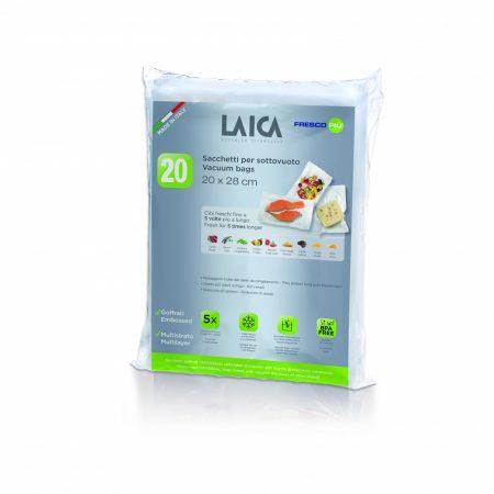 LAICA légcsatornás BPA mentes vákuum csomagoló tasak  20 x 28 cm,  20 db